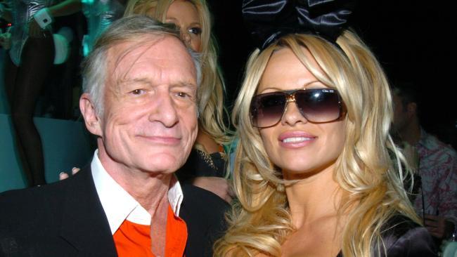 Hugh Hefner and Pamela Anderson were close friends. (Photo by Theo Wargo/WireImage)