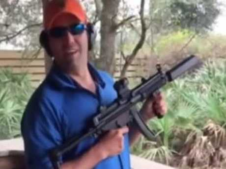 Donald Trump Jr is a fan of guns and hunting.  Picture:  Twitter