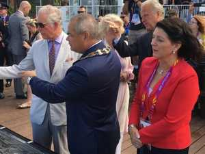 Youngsters steal show at Royal visit