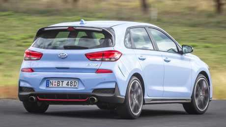 The Hyundai i30N is an impressive first effort and a genuine contender but would benefit from further refinement. Picture: Thomas Wielecki.