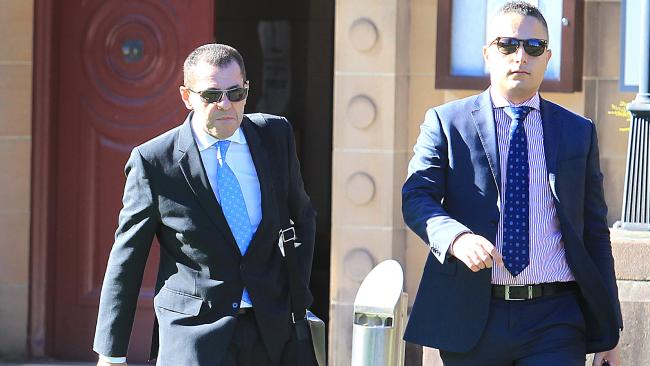 Ever the snappy dresser, Mark Caleo (left) leaves Darlinghurst Court this week. Picture: Danny Aarons