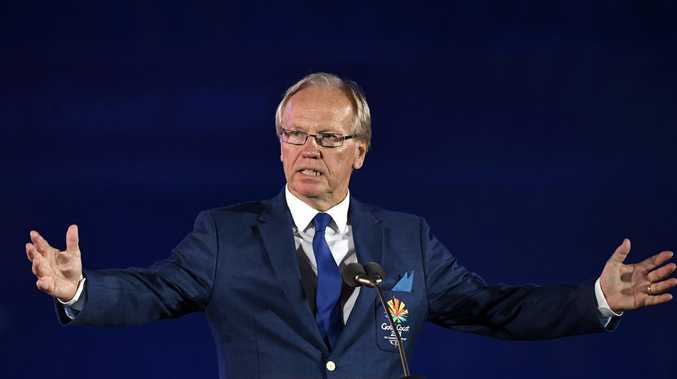 Gold Coast Commonwealth Games Chairman Peter Beattie speaks during the Opening Ceremony of the XXI Commonwealth Games at Carrara Stadium, on the Gold Coast, Wednesday, April 4, 2018. (AAP Image/Dean Lewins)