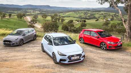 Close call ... all three cars are high calibre but choosing the pick of the bunch will depend on personal preferences. Picture: Thomas Wielecki.