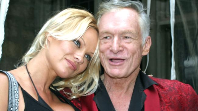 Pamela Anderson claims Hugh Hefner's Playboy saved her life. (Photo by Laurence Cottrell/FilmMagic)