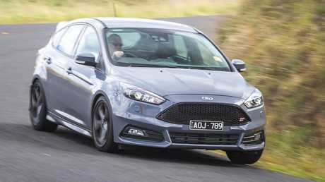 The Ford Focus ST is holding its age well and is still a blast to drive, but it pulls up short on standard safety technology. Picture: Thomas Wielecki.
