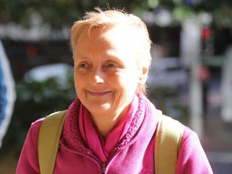 Naturopath Marilyn Bodnar enters the downing centre in Sydney.