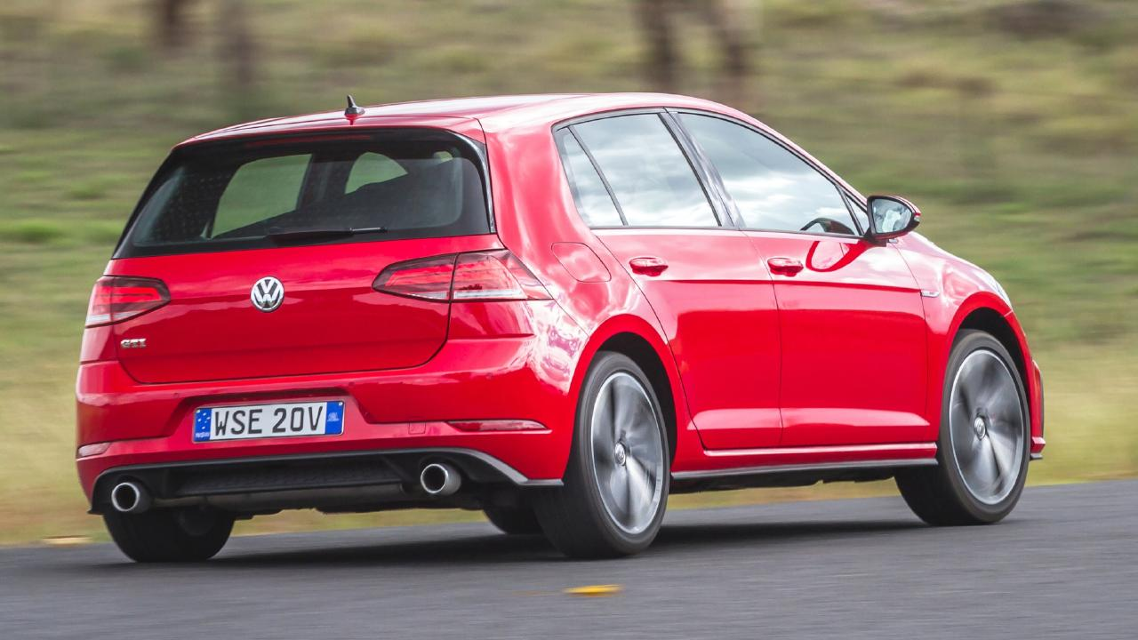 The VW Golf GTI has a broader skill set than the others, delivering thrills without compromising comfort. Picture: Thomas Wielecki.