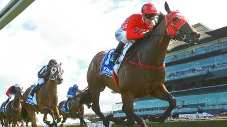 Redzel scored a comfortable win in the Challenge Stakes last month. Picture: Getty Images