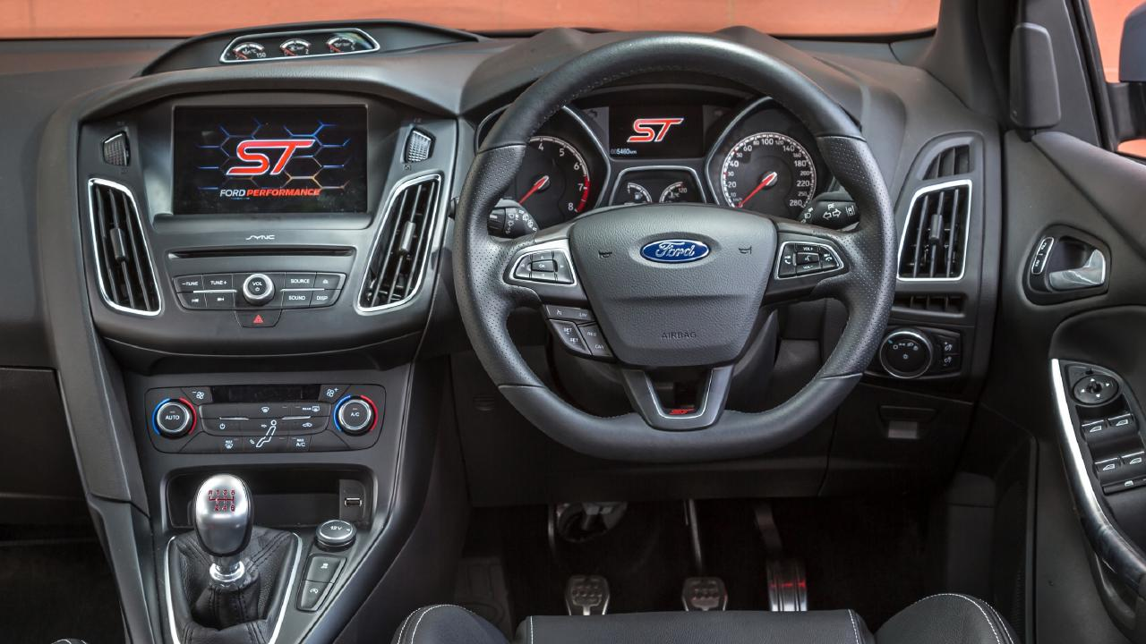 The Ford Focus ST has most mod-cons covered but the interior is starting to look dated. Picture: Thomas Wielecki.