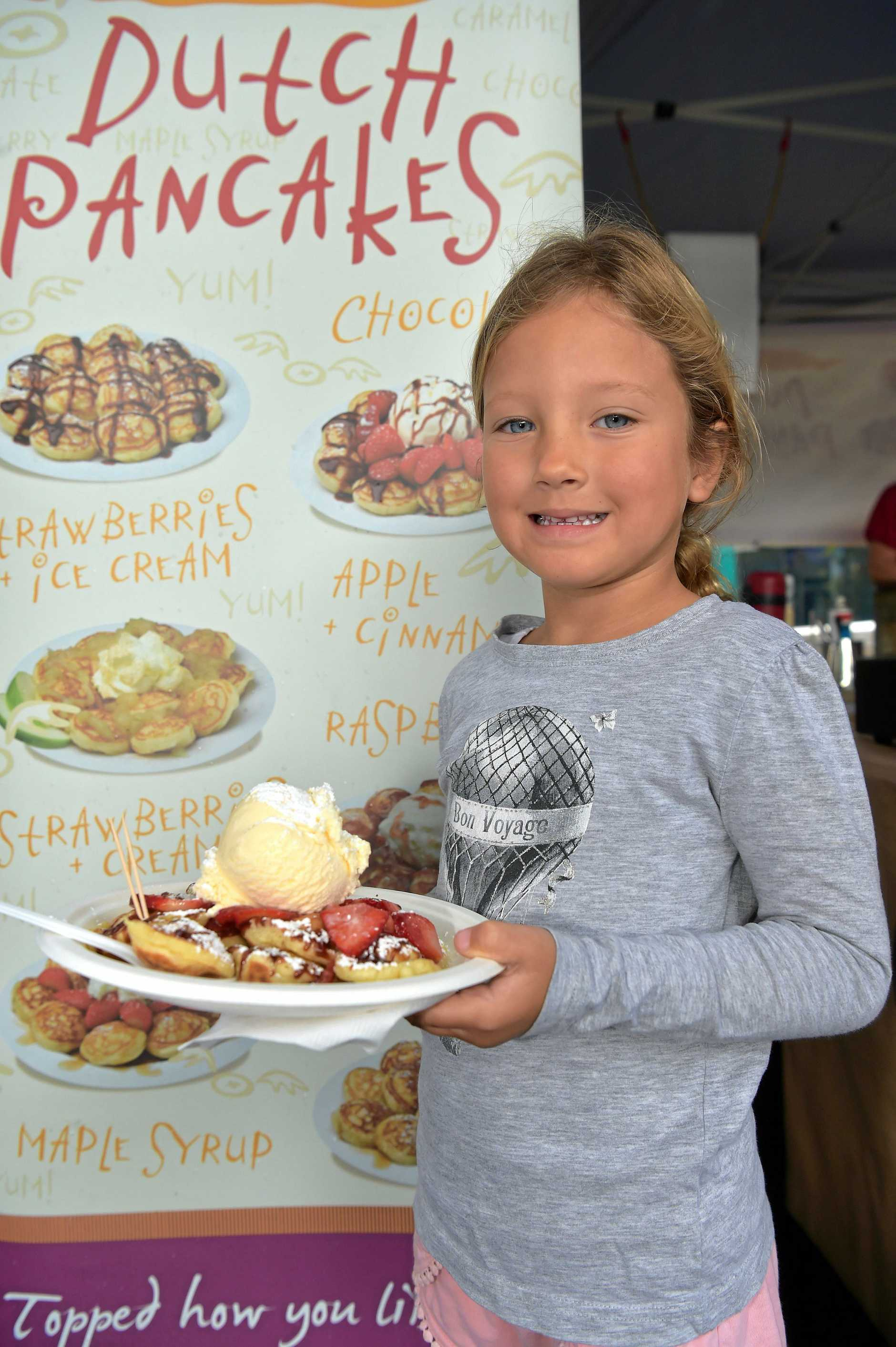 Summer Lawson's ready to eat at Caloundra Street Fair.