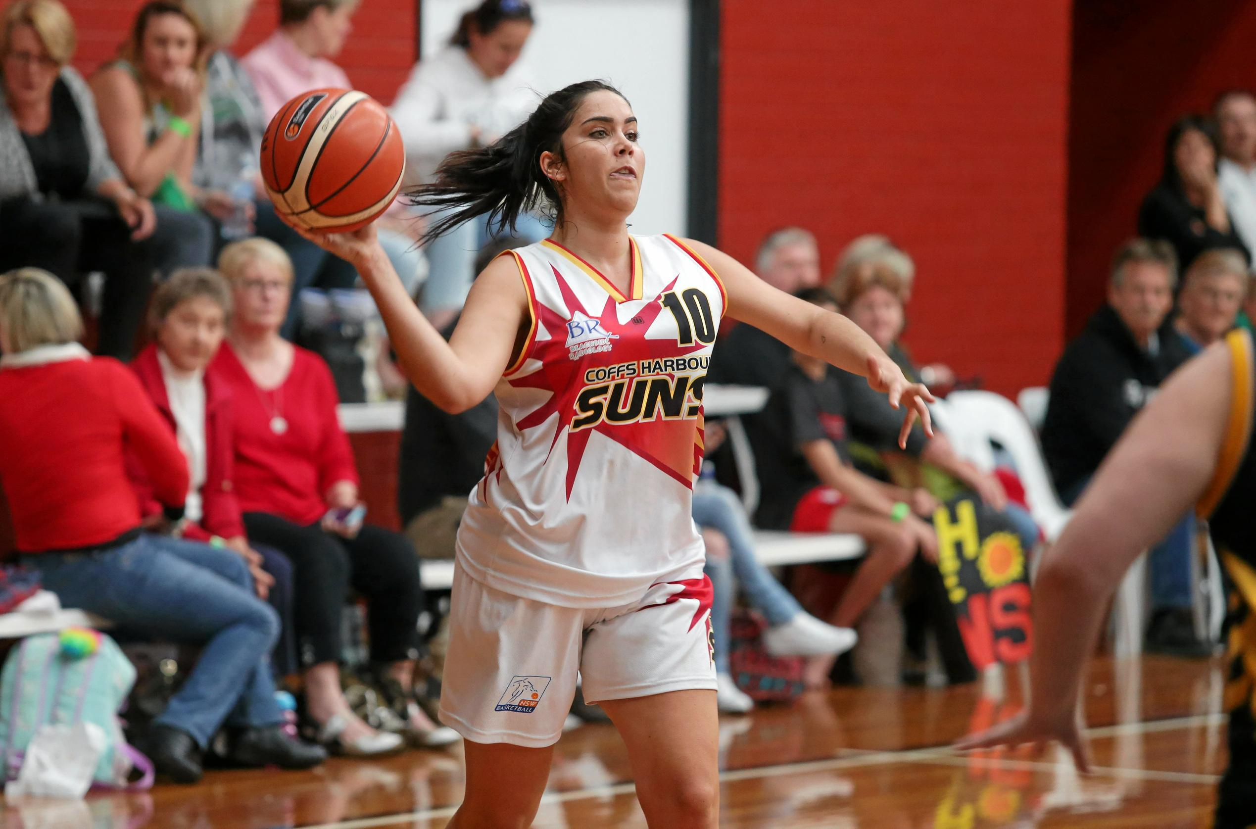 Laura Bamford-Cleland of the Coffs Harbour Suns is the leading scorer in the Waratah League's Division 1 Women competition.