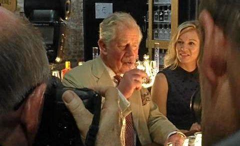 His Royal Highness, Price Charles, samples some rum during his visit to Bundaberg.