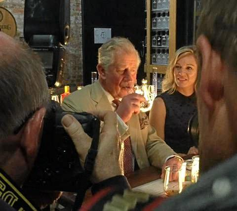 His Royal Highness, Price Charles, samples some rum during his visit to Bundaberg.