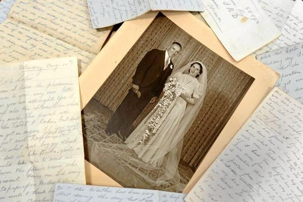 Leslie Cave on his wedding day with Veronica Ellen Barnes.