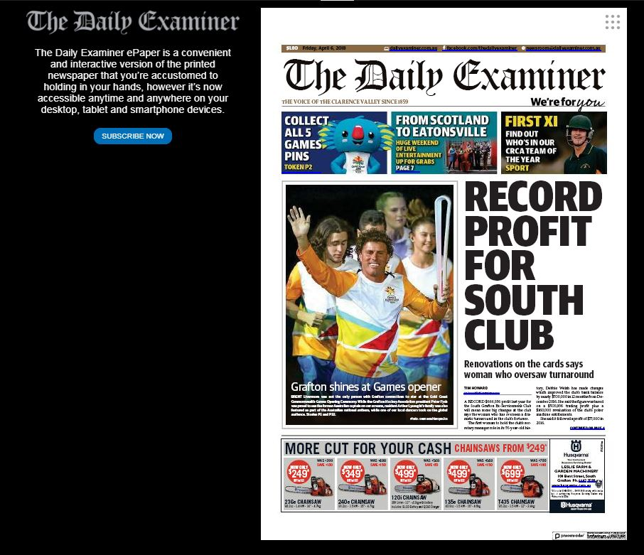 Read The Daily Examiner online