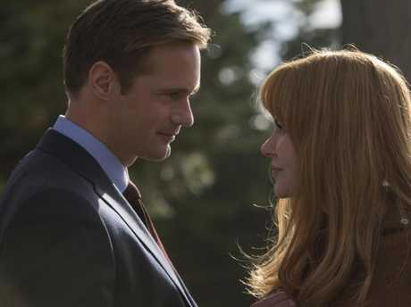 Alexander Skarsgard (Perry Wright), Nicole Kidman (Celest Wright) in Big Little Lies. Picture: Supplied