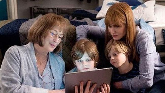 Meryl Streep and Nicole Kidman on set of Big Little Lies 2. Picture: Instagram