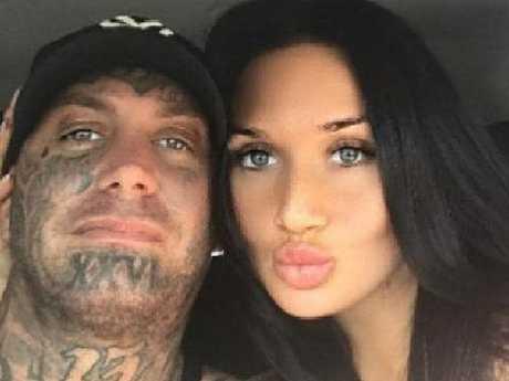 Brett 'Kaos' Pechey with girlfriend Rikki Sutton. Picture: Facebook