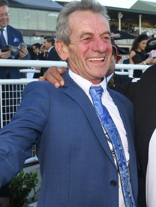 Trainer Gerald Ryan after Trapeze Artist's win. Picture: AAP