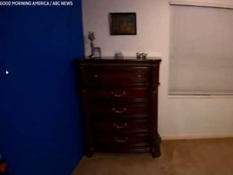 The blue wall was used to film her YouTube videos, said Nasim's parents.