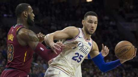 Ben Simmons won an epic duel with LeBron James in Philly. Picture: Getty Images/AFP