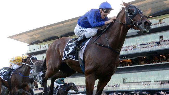 Happy Clapper is likely to back up and take on Winx in the Queen Elizabeth Stakes at Royal Randwick next Saturday. Picture: AAP
