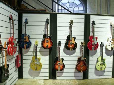 Guitars owned by actor Russell Crowe to be auctioned by Sotheby's auction house. Picture: AAP