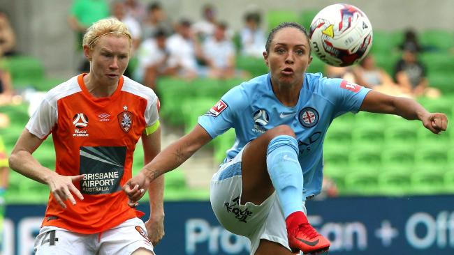 Simon was injured in her last outing for Melbourne City. Picture: AAP