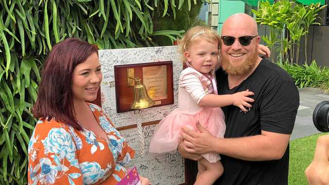 MIGHTY MIA: Bundaberg's Mia Pearce, 4, fought high-risk acute lymphoblastic leukaemia - and has won. Her parents, Rhianne and Ryan Pearce, feared at times during her two-year fight against the disease that they would lose their daughter.