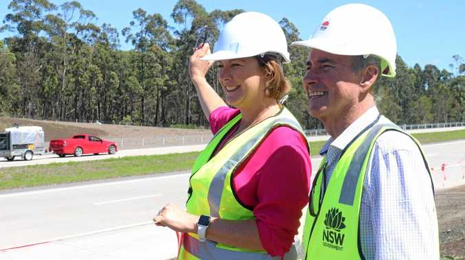 NSW Minister for Roads Melinda Pavey and Member for Clarence Chris Gulaptis open the 10km stretch of the Pacific Highway upgrade between Arrawarra and Dirty Creek in October last year.
