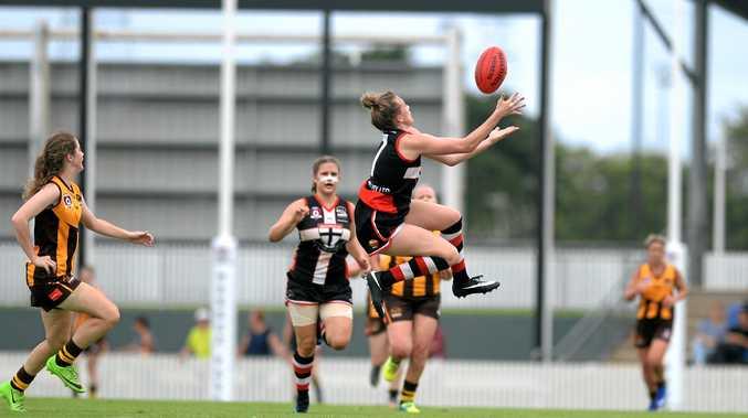 North Mackay Saints flew high to ground the Mackay City Hawks at Harrup Park on Saturday.