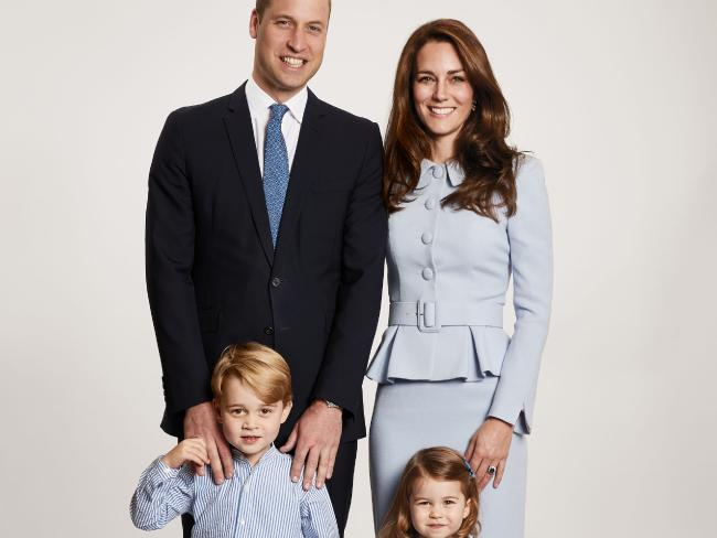 Prince William, Kate Middleton, Prince George and Princess Charlotte are expecting a new addition to the family any day now. Picture: AFP