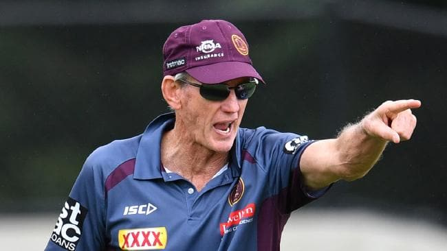 Broncos coach Wayne Bennett is seen during a Brisbane Broncos training session at Clive Berghofer Field in Brisbane, Thursday, March 29, 2018. The Broncos are playing their round four NRL match against the Gold Coast Titans on Sunday in Brisbane. (AAP Image/Darren England) NO ARCHIVING, EDITORIAL USE ONLY