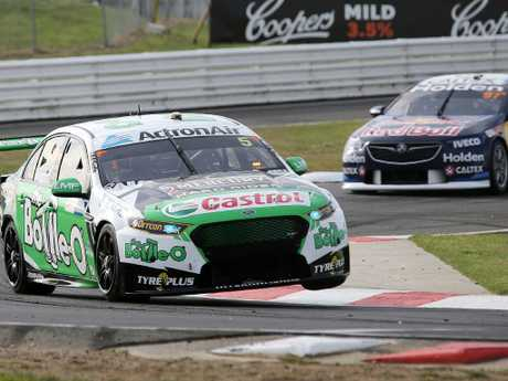The Bottle-O Racing Team driver Mark Winterbottom during practice 2 at the Tasmania Supersprint at Symmons Plains. Picture Chris Kidd