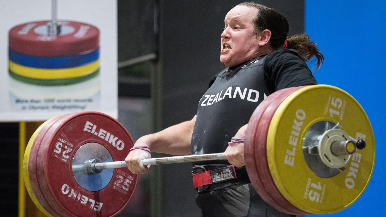 Laurel Hubbard at a weightlifting competition in Australia last year.