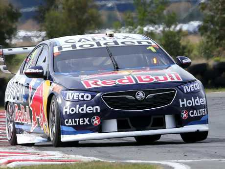 Jamie Whincup will start on the fourth row. Picture Chris Kidd