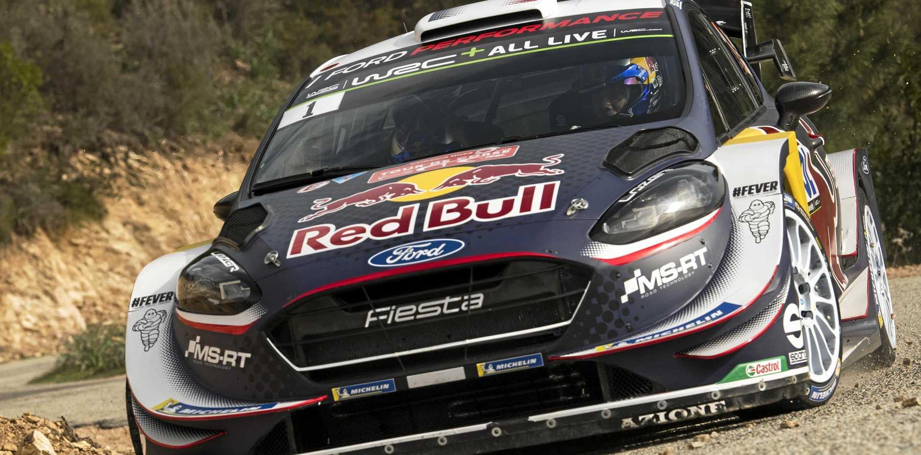 Sébastien Ogier powers his M-Sport Ford Fiesta through one of the Tour de Corse's 10,000 corners.