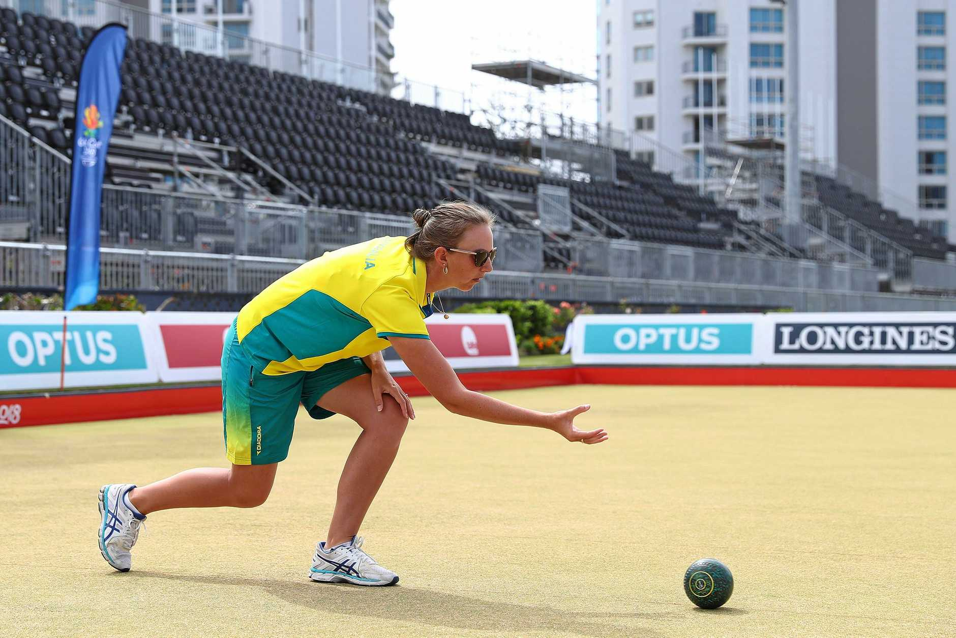 Kelsey Cottrell will play in the fours final at the Commonwealth Games on Monday.