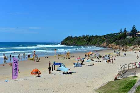 PURE ADRENALIN: Get among the waves off Coolum Beach.