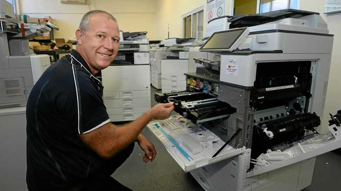 Mango 4 technician Adrian Chilcott found a snake in a printer recently.
