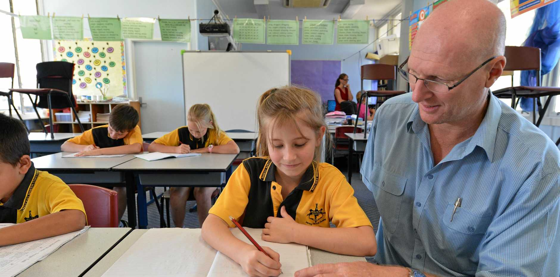 Mackay North State School students during their NAPLAN tests.