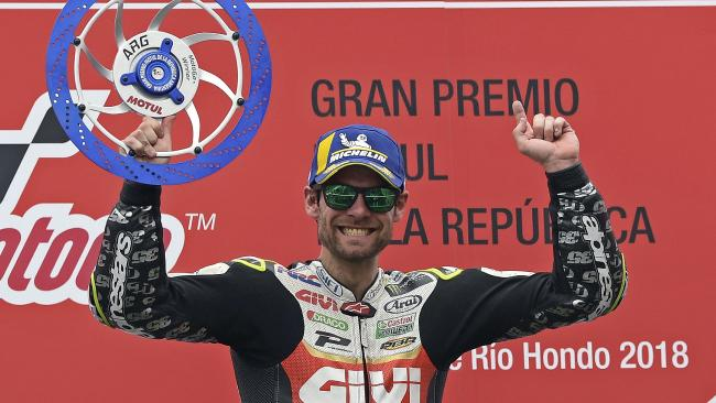 Cal Crutchlow won the MotoGP Grand Prix of Argentina.