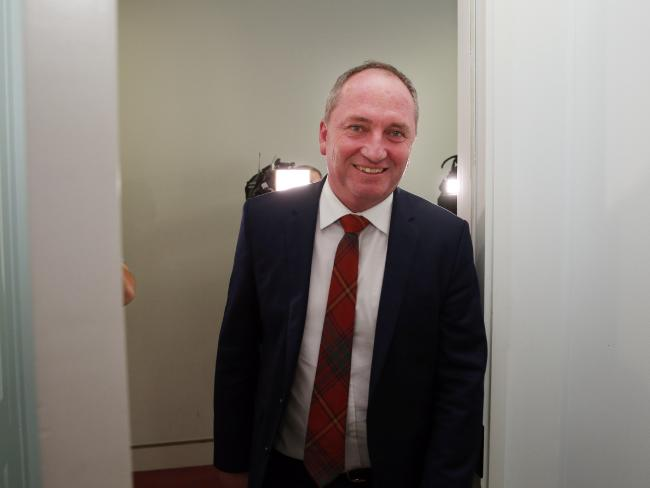Barnaby Joyce in Canberra today.  Picture: Gary Ramage