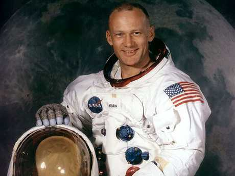 Buzz Aldrin, in 1969, was the second man to land on the moon. Picture: NASA