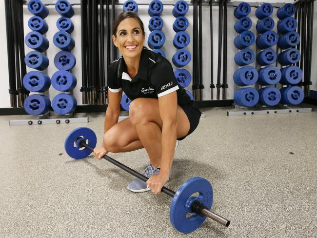 Victoria Bellino works part time at Goodlife in Brisbane. Picture: AAP/Claudia Baxter