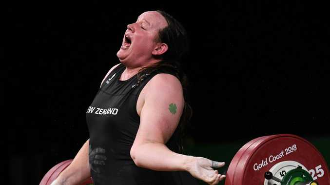 Laurel Hubbard suffered this gruesome injury trying to lift 130kg.