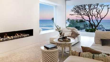 Inside the seven bedroom beach home.