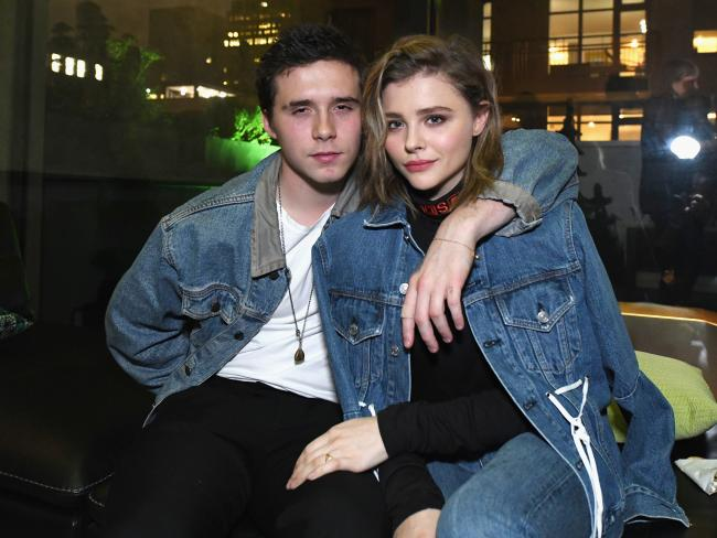 Brooklyn Beckham and Chloe Grace Moretz in New York in 2017. Picture: Slaven Vlasic/Getty Images for Xbox