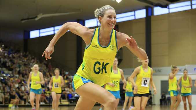The Commonwealth Games mark Laura Geitz's return to netball after taking time out to start a family. Picture:  Lachie Millard