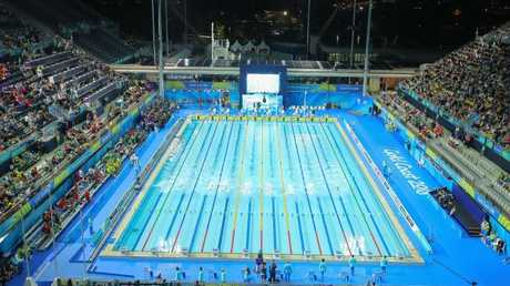 The view of the swimming venue on the Gold Coast.